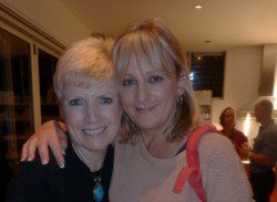 Ruth with Beatrix, a regular at Ruth's Anahata Evenings